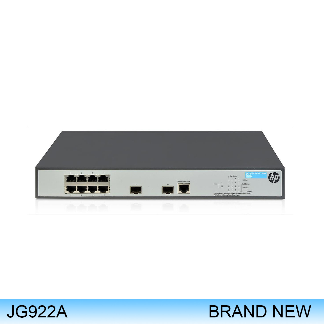 JG922A | HP PROCURVE SWITCH 1920-8G-PoE+ (180W)