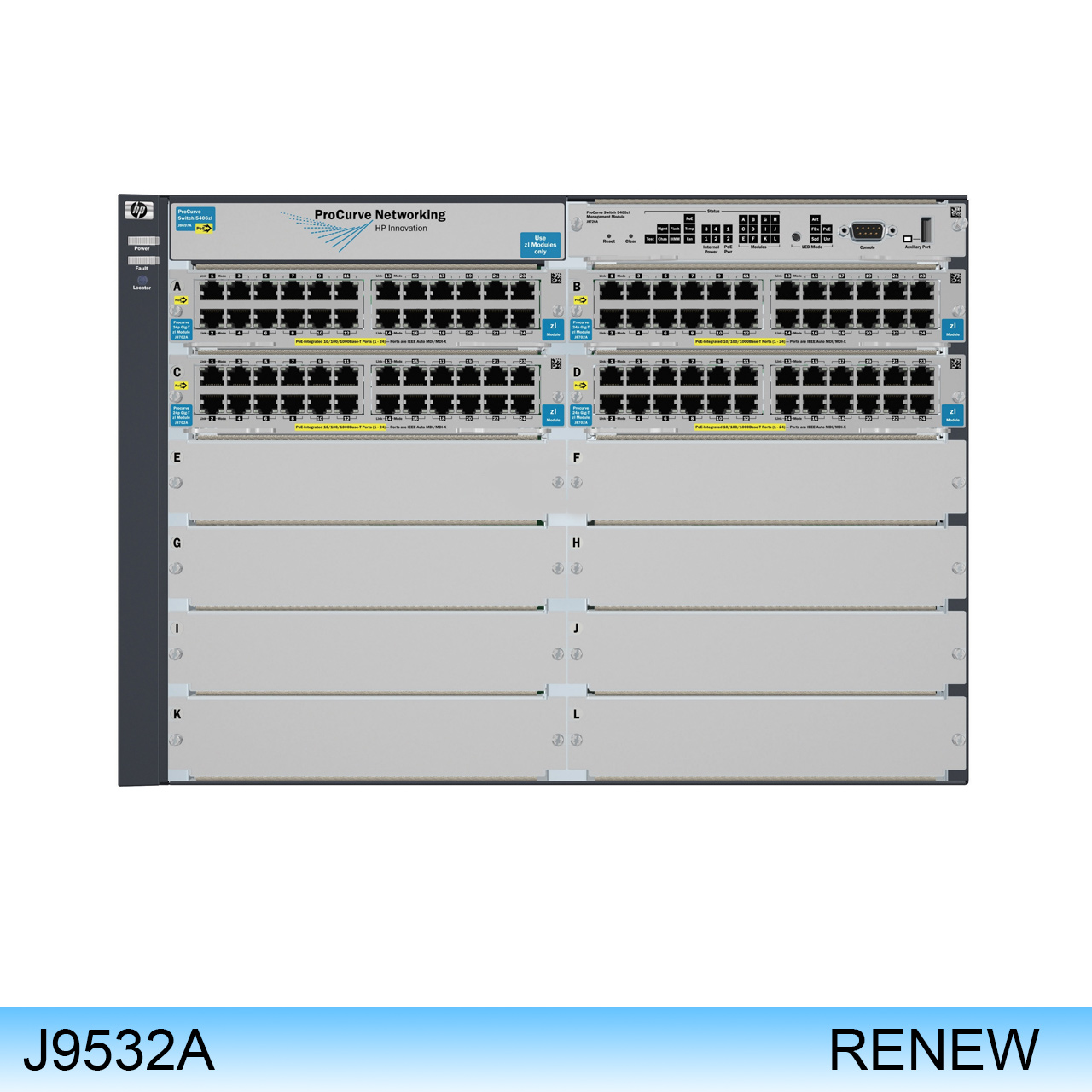 J9532A | HP PROCURVE SWITCH E5412-92G-PoE+/2XG-SFP+ v2 zl Premium Software -- RENEW